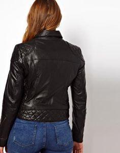 ASOS Curve | ASOS CURVE Leather Biker Jacket at ASOS