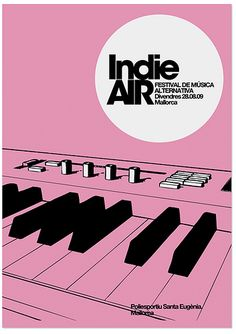 Poster IndieAIR FESTIVAL / Mallorca by MARIN DSGN