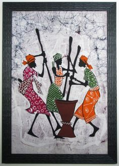 African batik fabric art - Carter Avenue Frame Shop Custom Picture Framing in Minneapolis, St. African Drawings, African Art Paintings, African Artwork, Framed Fabric, Fabric Art, Afrique Art, Batik Art, Batik Quilts, Afro Art