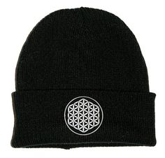 Black beanie hat with 100% cotton embroidered patch. Available in larger slouch style or small fitted style. Patches are machine sewn by Extreme Largeness. One size fits all. Photo is for illustration purposes only.