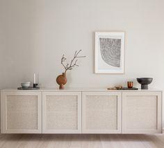 Besta cane cabinet (doors only) – Fronteriors Living Room Interior, Home Living Room, Living Room Designs, Living Room Decor, Bedroom Decor, Ikea Furniture, Furniture Design, Interior Inspiration, Room Inspiration
