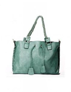 Mint Green PU Women Shoulder Bags
