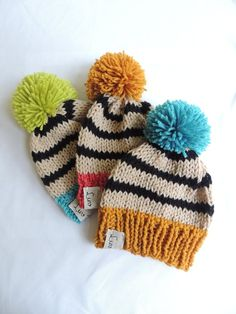 Baby Hats Knit Hats Luv Beanies Boy Hats Girl Hats Stocking Hats Boy Stocking hats Ski Hats Hat with Pom Pom Elf Hats Baby hats Crochet Hats For Boys, Knitted Hats Kids, Baby Hats Knitting, Kids Hats, Loom Knitting, Boy Crochet, Elf Hut, Baby Boy Hats, Baby Beanies