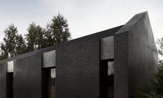 y-house single family house pabianice. Tamizo Architects, Group Projects, Architecture Interiors, Black Exterior, Single Family, Poland, Skyscraper, Brick, Buildings