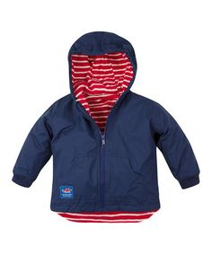 Take a look at this Navy Fleece-Lined Reversible Jacket - Infant, Toddler & Kids by JoJo Maman Bébé on #zulily today!