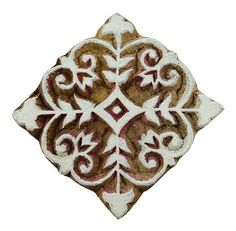 Floral Pattern Decorative Stamp, Wooden Printing Block, Carved Wood Stamp, By 1 Pcs Printer Stamp, S Wood Stamp, Hand Carved, Carved Wood, Wood Blocks, Textile Prints, Handmade Wooden, Printing On Fabric, Custom Design, Carving
