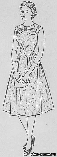 Платье с фигурным лифом и мягкими складками от талии - Сто фасонов женского платья - Всё о шитье - Шей сама