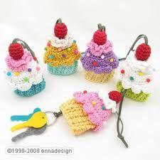Amigurumi Cupcake Keychain : 1000+ images about keycover on Pinterest Keys, Crochet ...