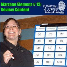Help Students Practice and Deepen New Knowledge by Reviewing Content (Marzano DQ 13) - PREPARING LIFELONG LEARNERS Social Studies Games, Marzano, Vocabulary Games, Middle School Teachers, Classroom Ideas, Students, Knowledge, Content, Teaching