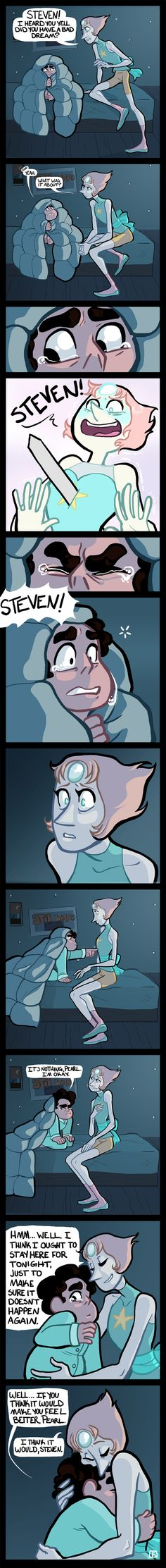 """This is why I watch this show. You're all like """"aww it's just a silly kids show about a magic boy."""" And then WHHHHHHUUUUUUM! Right in the feels. SU: Bad Dream by ArtKat.deviantart.com on @DeviantArt"""