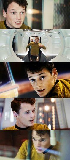 """I'm giving her all she's got, Captain!"" // Chekov // Anton Yelchin 1989-2016"
