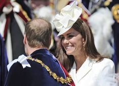 Kate, Duchess of Cambridge and Prince William, Duke of Cambridge attend the annual Order of the Garter Service at St George's Chapel at Windsor Castle, Windsor, England, Monday June 18, 2012. (AP Photo/Paul Hackett)