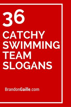 36 Catchy Swimming Team SlogansYou can find Swim team and more on our Catchy Swimming Team Slogans Swimming Posters, Swimming Memes, Swimming Diving, Team Slogans, Catchy Slogans, Swim Team Quotes, Sport Quotes, Swim Team Party, Swim Coach Gifts