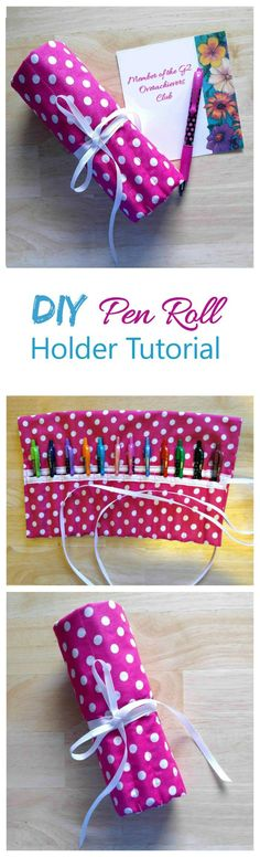 This DIY pen roll case is the perfect way to hold all your favorite pens in one place. It's perfect for back to school for your kids, or to have in a home office to keep the pens in one place. #PilotYourLife #ad @Target @Pilot Pen