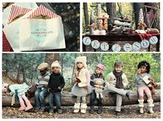"""I believe this was actually a photoshoot, but how cute would it be for a """"woodland friends"""" party?"""