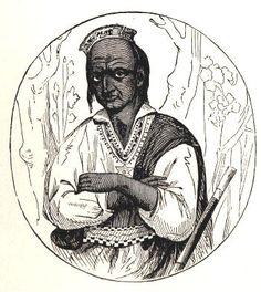 King Philip, sachem of the Wampanoag Indians. Real name Metacomet or Metacom