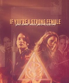 Strong female book characters :) #HungerGames #HarryPotter