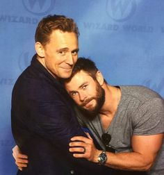 Thor holding on to Loki,  Chris Hemsworth  and Tom Hiddleston