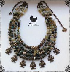 No crosses though Bead Jewellery, Ethnic Jewelry, Diy Jewelry, Women Jewelry, Jewelry Making, Wire Wrapped Necklace, Beaded Necklace, Imitation Jewelry, Crosses