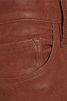 FRAME - Skinny De Jeanne Leather Pants - Brown - 29