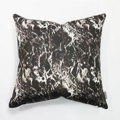 Impala Graphite charcoal cushion_ black marble_charlie and fenton_throw pillow