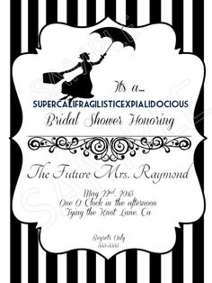 Mary Poppins Bridal Shower Invitation by MollysChicBoutique, $8.00