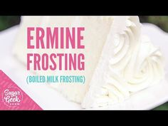 Ermine frosting made from boiled milk, flour, sugar and vanilla whipped into butter. It's light, fluffy and very much like whipped cream in texture. Ermine Frosting, Icing Frosting, Cake Icing, Frosting Recipes, Cupcake Cakes, Cake Recipes, Ermine Buttercream Recipe, Cupcakes, Baby Cakes