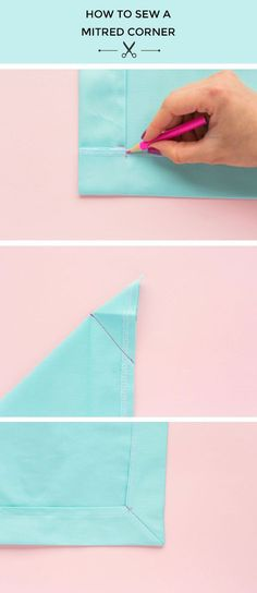 Tilly and the Buttons: How to Sew a Mitred Corner