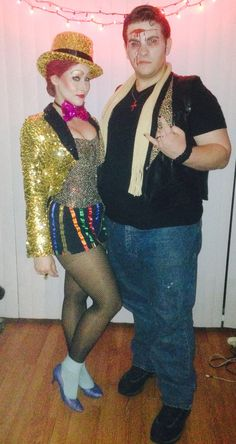 Homemade Columbia and Eddie Costumes, Rocky Horror Picture Show