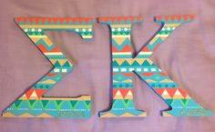 Sigma Kappa tribal print letters