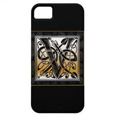 V Monogram Celtic Black Stone iPhone 5 Cases.  Designed for iPhone 5, iPhone 4, iPhone 3G/3Gs, iPod Touch, Samsung Galaxy S3, Samsung Galaxy S2, Samsung Galaxy Nexus, HTC Vivid, Motorola Razr, and Blackberry Bold.  #PhoneCases #PhoneCovers
