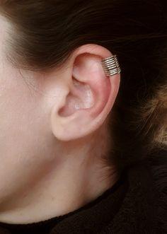 Silver 925 Ear Cuff No Piercing Cartilage Earring Middle Ear Wrap Earrings Unique Jewellery 1cm Wide Gift for Girlfriend Women Gift Idea #etsy #jewelry #Necklace #etsychaching