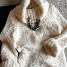 Spotted while shopping on Poshmark: Express Hand Knit soft Fluffy Cream Cowl Neck! #poshmark #fashion #shopping #style #Express #Sweaters