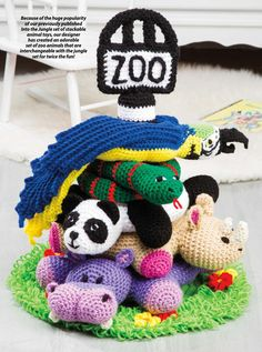 PART #1 OF ZOO STACKING TOY!!! #ClippedOnIssuu from Crochet world june 2015