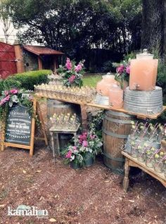 ideas for backyard wedding reception bar drink stations wedding bar ideas for backyard wedding reception bar drink stations Wedding Signs, Diy Wedding Bar, Rustic Wedding Reception, Wedding Country, Wedding Food Bar Ideas, Wedding Dessert Tables, Wedding Hair, Wedding Snacks, Wedding Food Stations