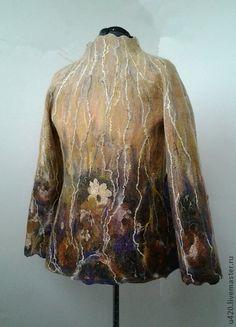 """Верхняя одежда ручной работы. Ярмарка Мастеров - ручная работа Полупальто """"Осенний сад"""". Handmade."""