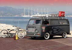 Vw bus and custom bike