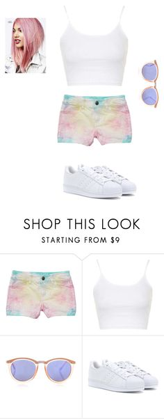 """""""babe"""" by zoey-boo on Polyvore featuring Topshop, Le Specs, adidas, women's clothing, women, female, woman, misses, juniors and createdbyzoey"""