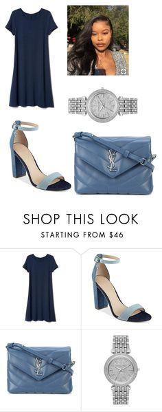 """""""Untitled #437"""" by askariwilson on Polyvore featuring GUESS, Yves Saint Laurent and Michael Kors"""