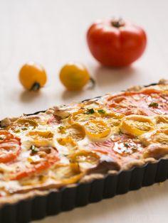 Balcony Tomatoes - julietta seasons - Tomaten Ricotta Tarte