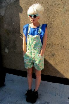 Lime dungarees