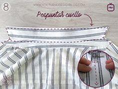Cómo coser un cuello camisero en 8 pasos – Nocturno Design Blog Design Blog, One Clothing, Sewing Techniques, Couture, Stitch, Fabric, Pants, Color, Women