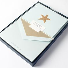 Engraved Starfish Notes Gift Set by Crane & Co. Price $29.00