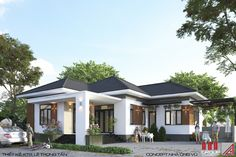 My House Plans, Modern House Plans, Garden Villa, Home And Garden, Build Your Own House, Mansions Homes, Simple House, Architects, Houses