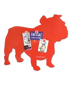 Wonderwall Magnetic board bulldog . for your notes and work schedules: how will let the dog out http://www.wonderwall.be