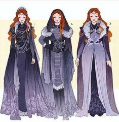 Sansa Stark and Daenerys Targaryen Costume Designs by Hannah Alexander Artwork Skandinavian Fashion, Game Of Thrones Art, Fantasy Dress, Halloween Kostüm, Vintage Halloween, Halloween Makeup, Halloween Costumes, Drawing Clothes, Character Outfits