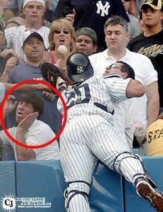 Yeah, don't worry, that's the exact face i make too when a baseball player is about to land on me!