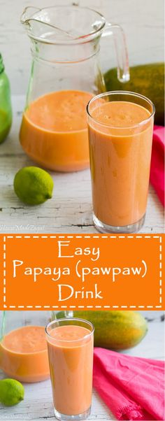 PawPaw (Papaya) Drink A recipe for an easy blend of fresh pawpaw (papaya) to make a healthy, homemade drink. Yogurt Smoothies, Healthy Smoothies, Healthy Drinks, Smoothie Recipes, Fruit Yogurt, Punch Recipes, Alcohol Recipes, Fruit Recipes, Healthy Recipes