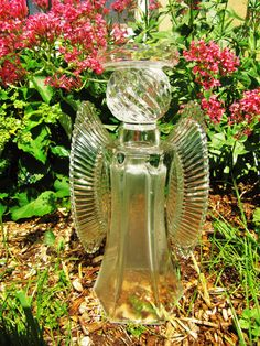 garden glass angel glass angel angel sculpture by ADelicateTouch1