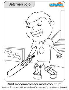 batsman jojo online jojo colouring page for kids free printable coloring pages for a variety of themes that you can print out and color at home